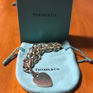 Authentic Tiffany & Co. Heart Charm Bracelet